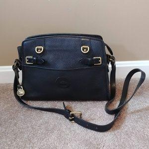Dooney & Bourke Vintage Black Leather Satchel Bag